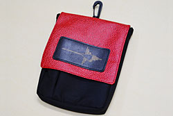 NAZCA POUCH 合皮Red